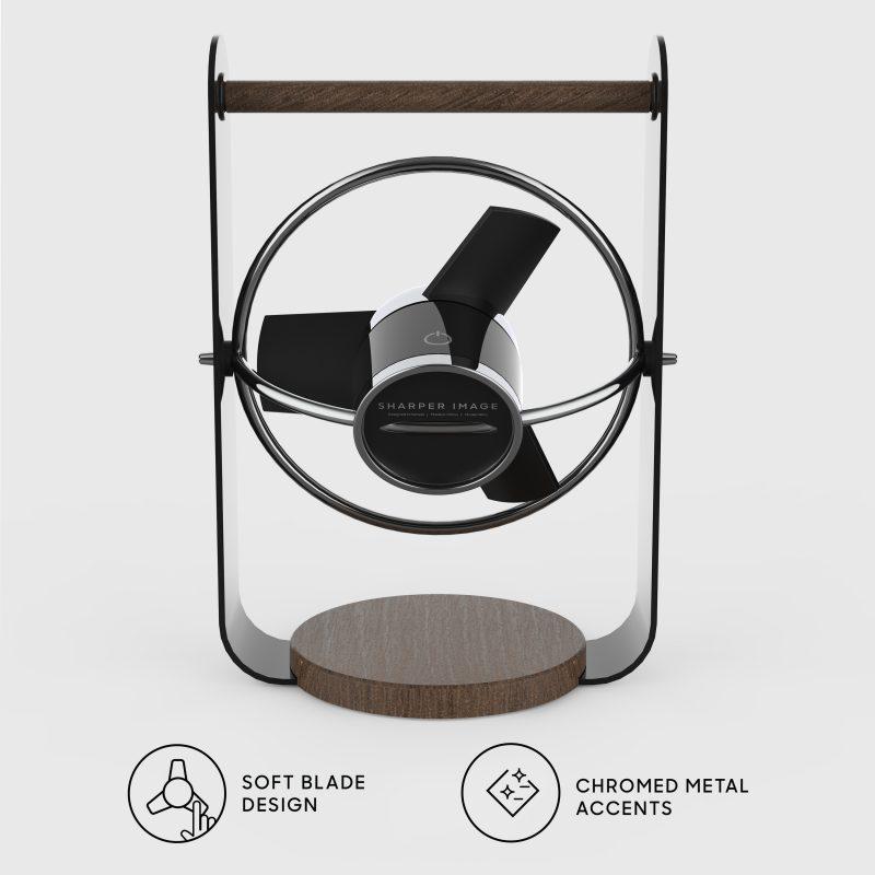 SBV1-SI Personal Soft Blade USB Fan Back - black