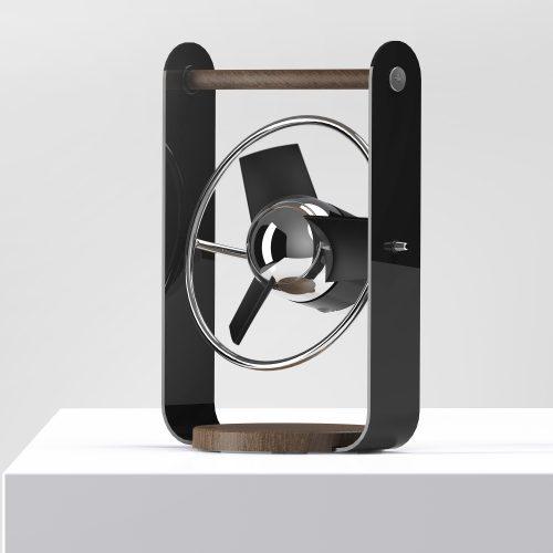 SBV1-SI Personal Soft Blade USB Fan - black