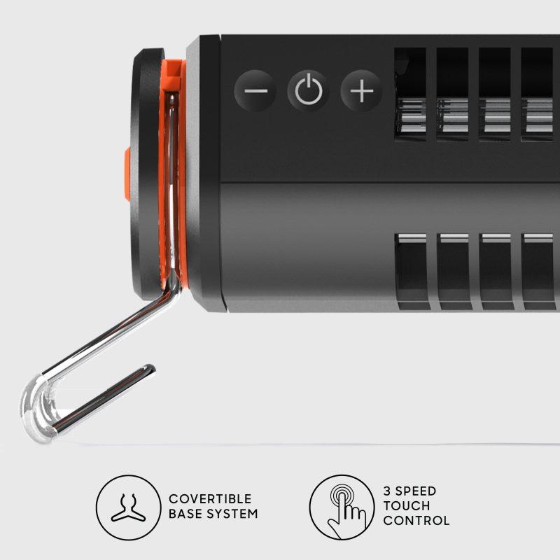 Sharper Image AXIS 12 Desktop Airbar USB Tower Fan Controls