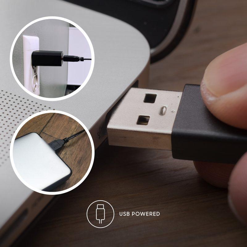Sharper Image AXIS 12 Desktop Airbar USB Tower Fan USB