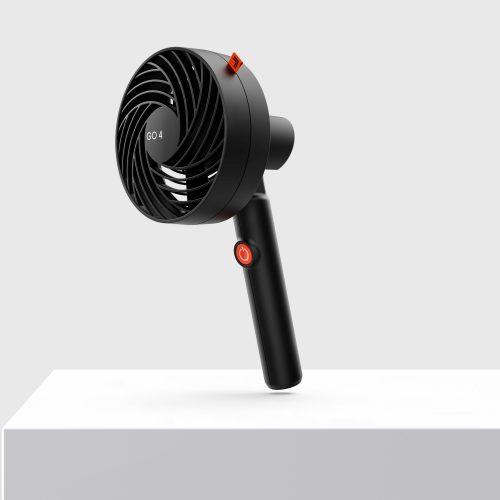 Sharper Image GO 4 Rechargeable Handheld Fan Black