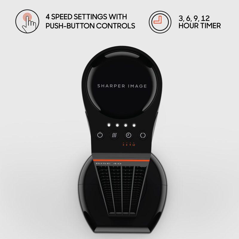 Sharper Image RISE 40 Oscillating Tower Fan Controls