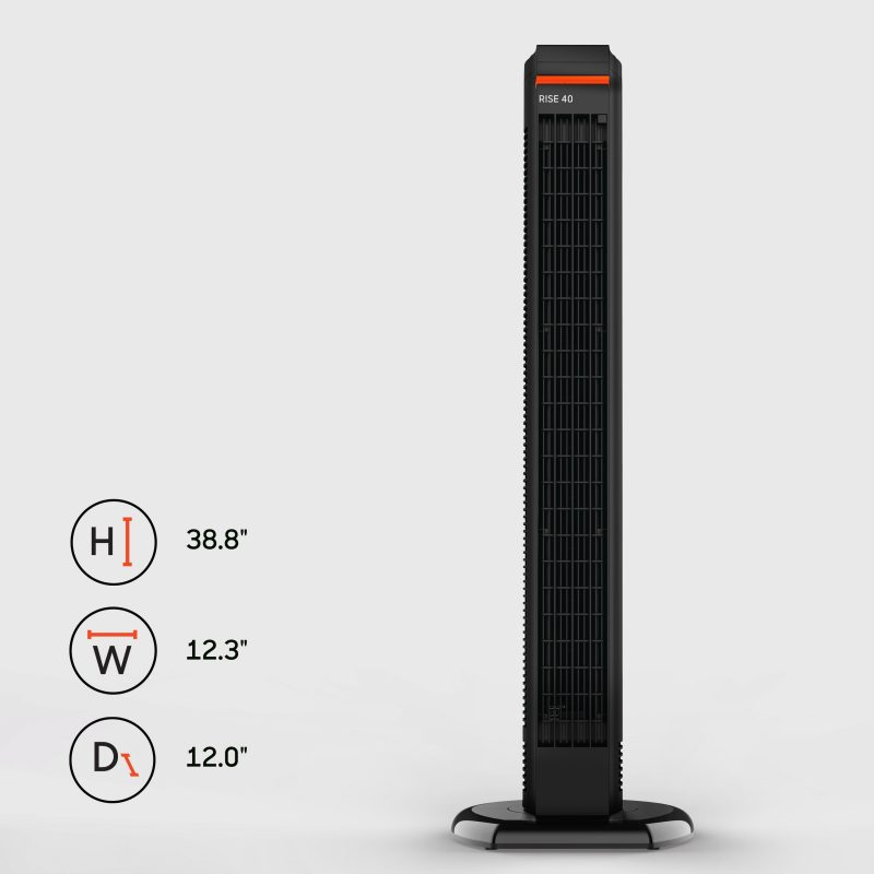 Sharper Image RISE 40 Oscillating Tower Fan Dimensions