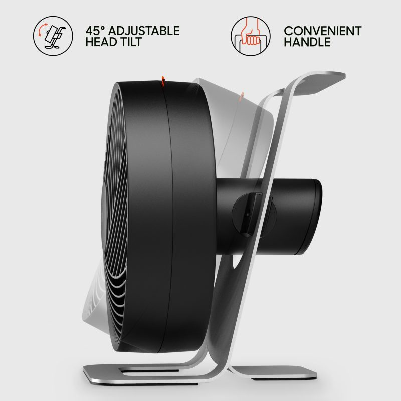 Sharper Image GO 9 Rechargeable Fan with Stand Adjustable