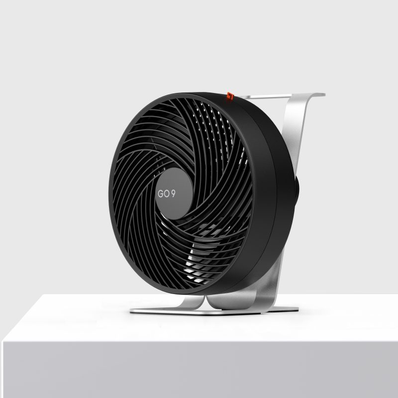 Sharper Image GO 9 Rechargeable Fan with Stand